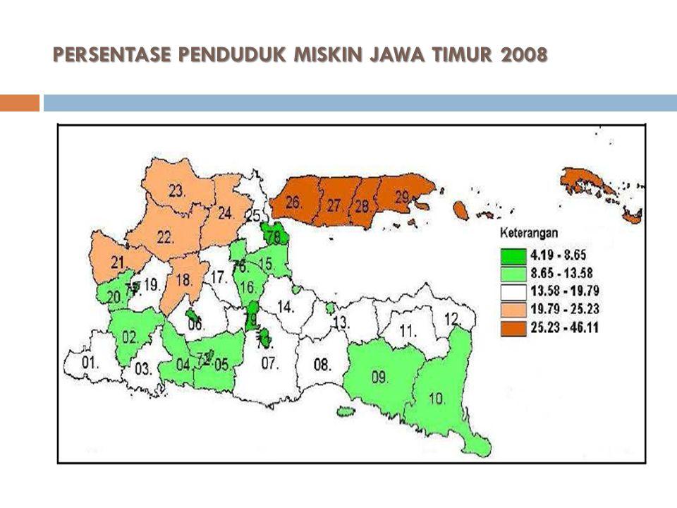 PERSENTASE PENDUDUK MISKIN JAWA TIMUR 2008