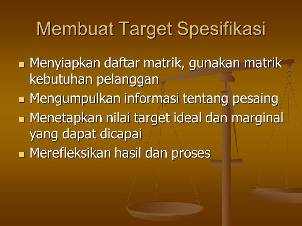 Membuat Target Spesifikasi
