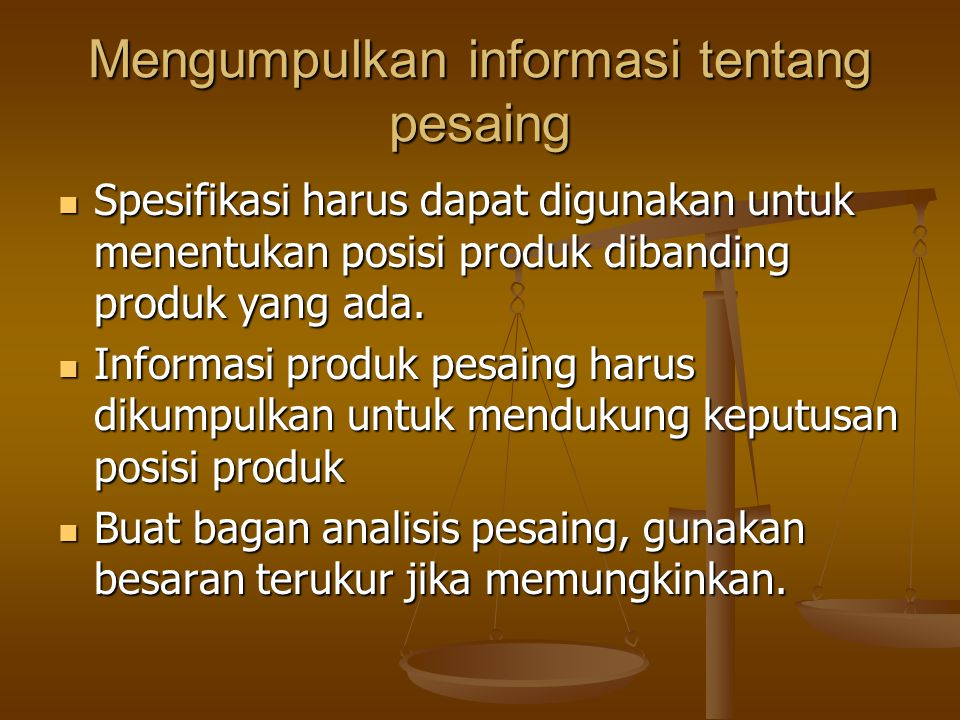 Mengumpulkan informasi tentang pesaing