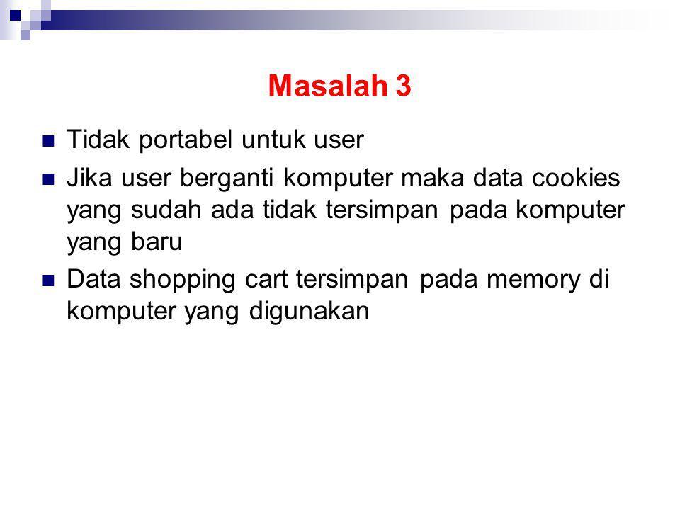 Masalah 3 Tidak portabel untuk user