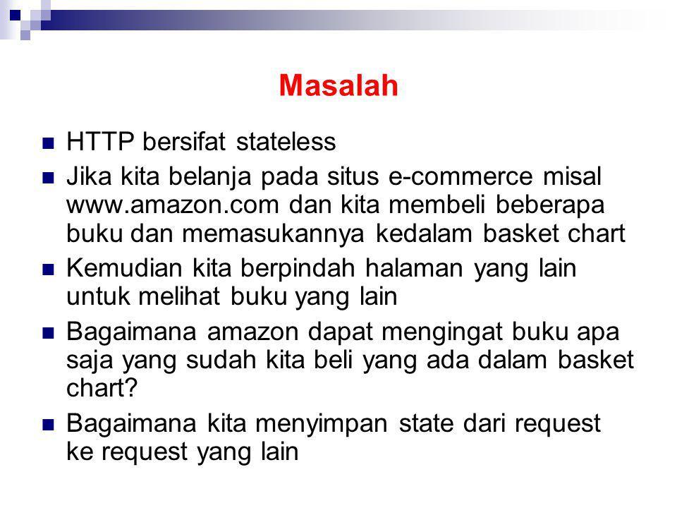 Masalah HTTP bersifat stateless