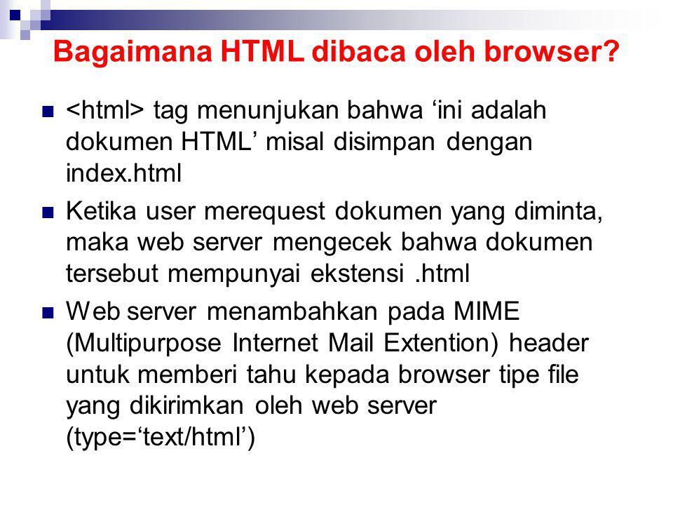 Bagaimana HTML dibaca oleh browser