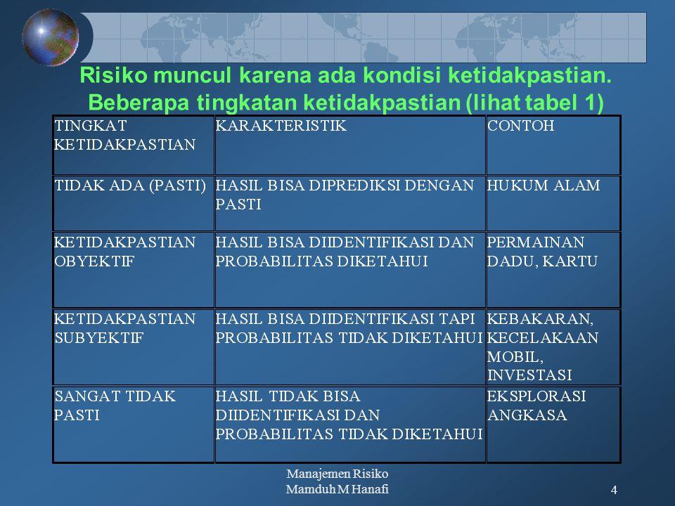Manajemen Risiko Mamduh M Hanafi
