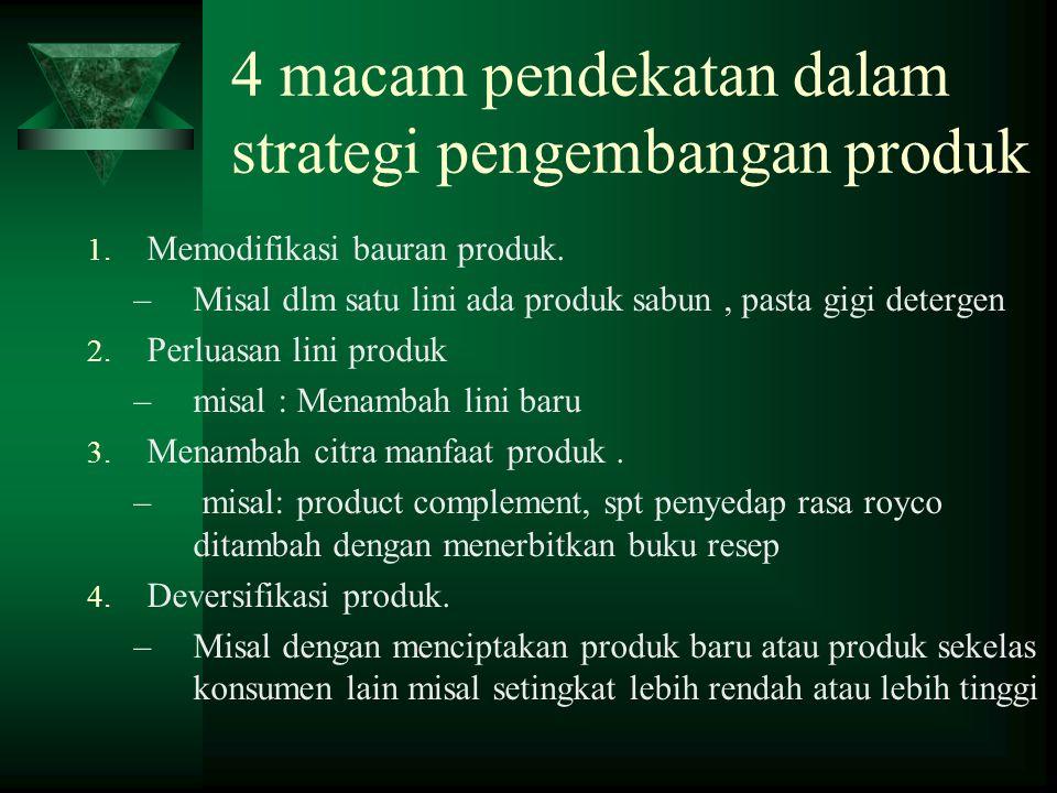 4 macam pendekatan dalam strategi pengembangan produk