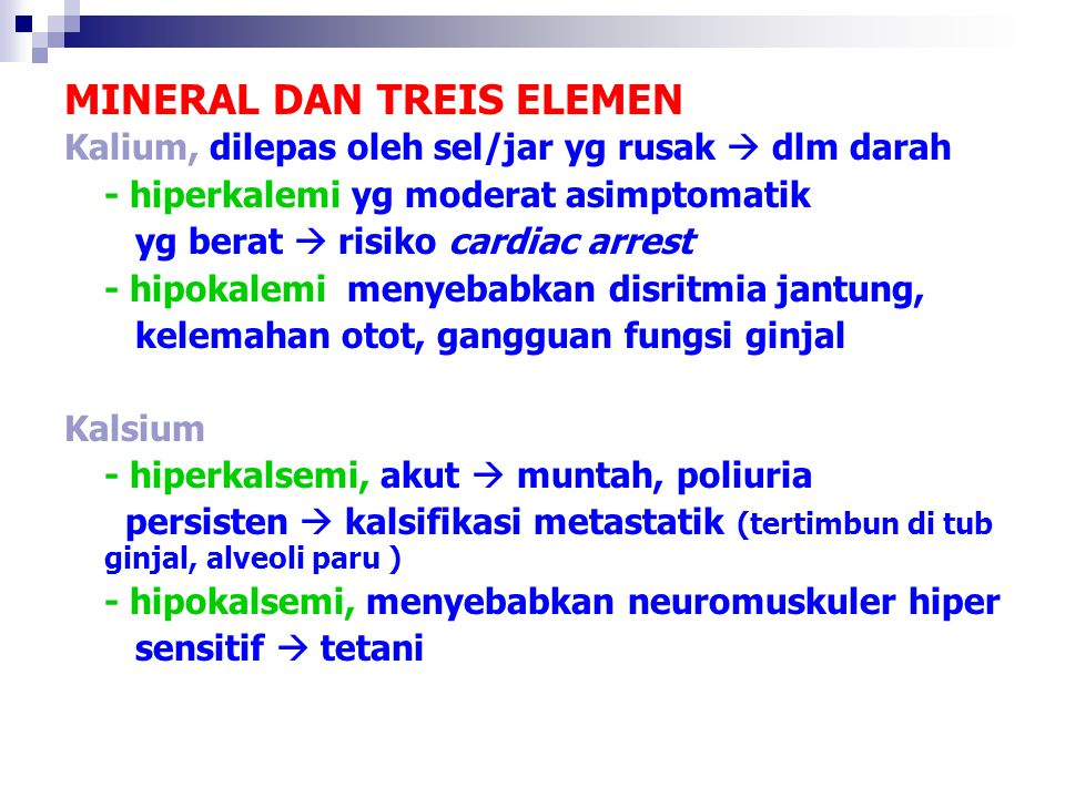 MINERAL DAN TREIS ELEMEN