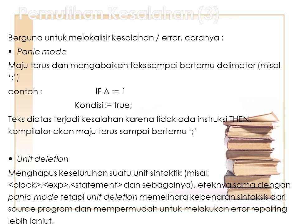 Pemulihan Kesalahan (3)