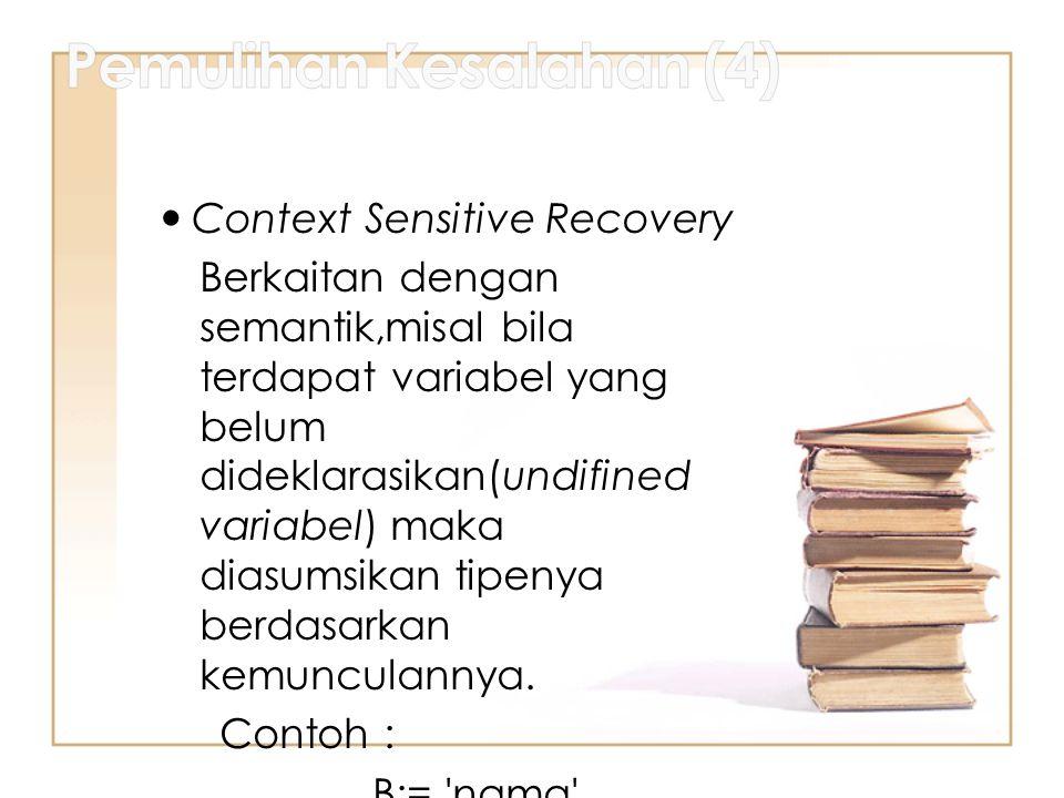 Pemulihan Kesalahan (4)