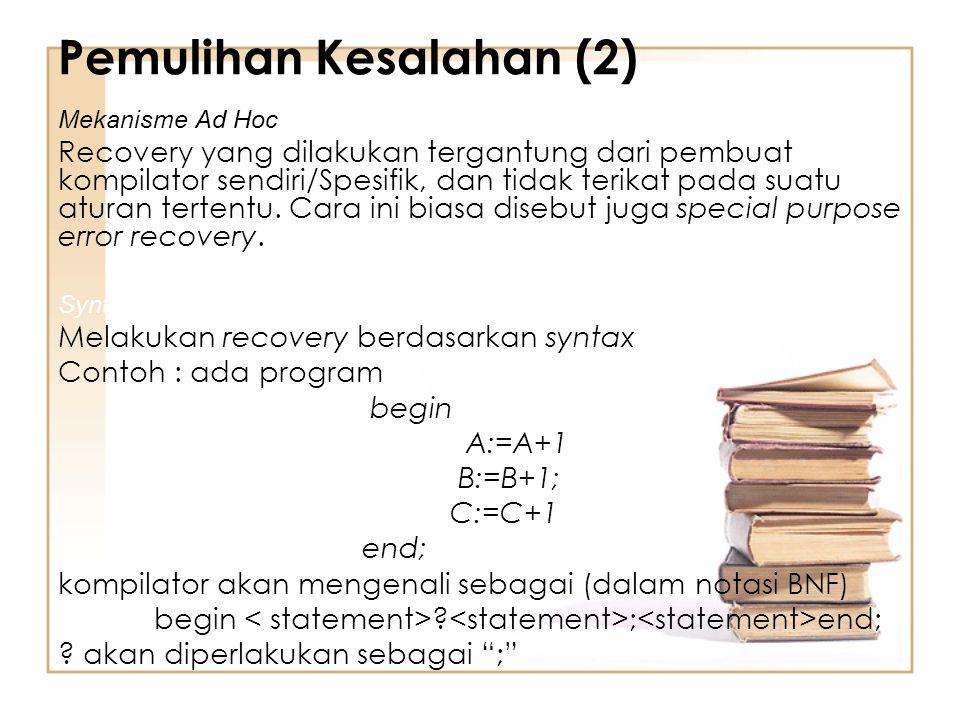 Pemulihan Kesalahan (2)