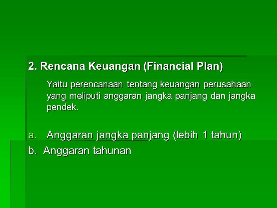 2. Rencana Keuangan (Financial Plan)