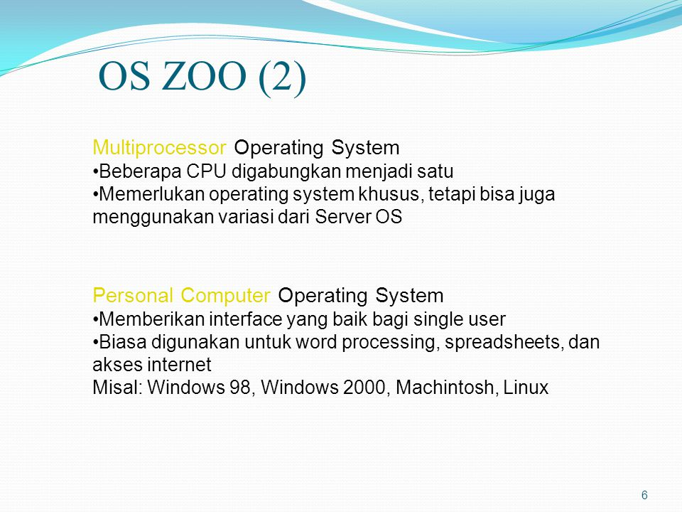 OS ZOO (2) Multiprocessor Operating System