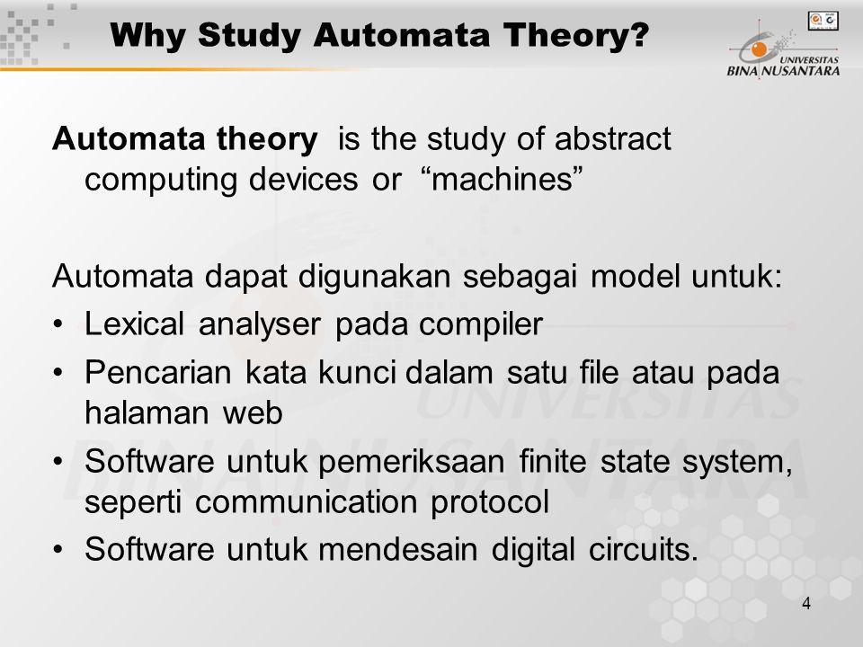 Why Study Automata Theory