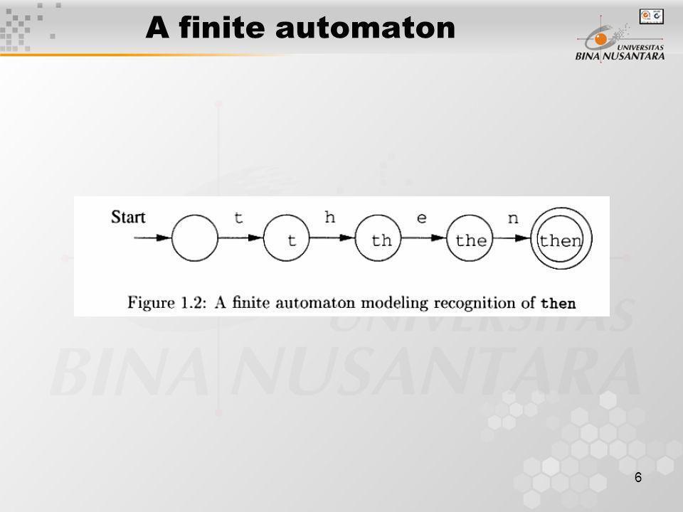 A finite automaton