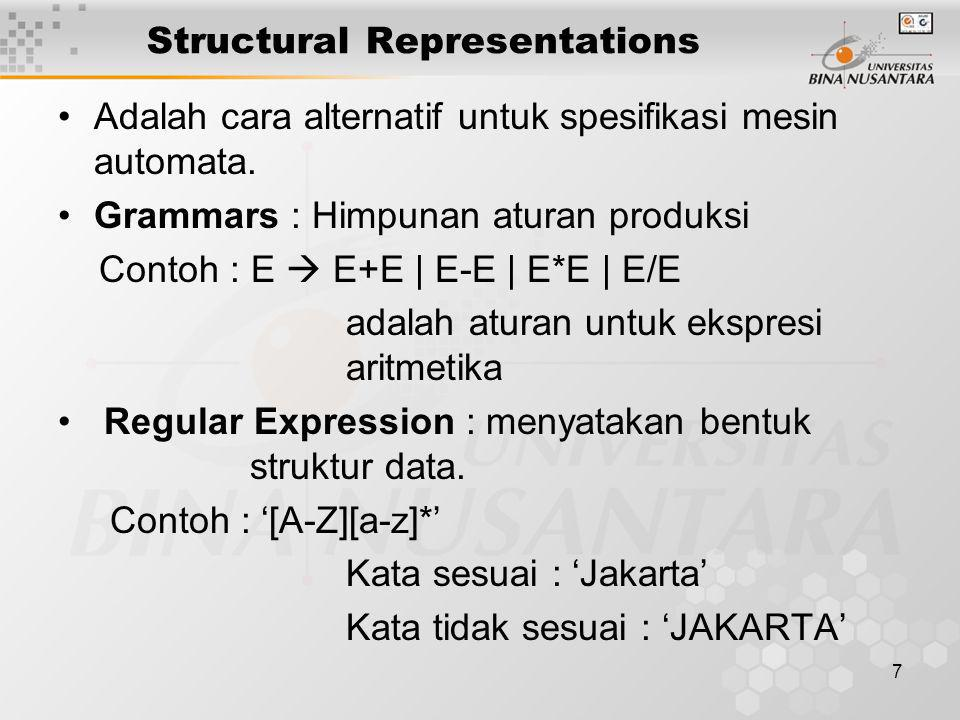 Structural Representations