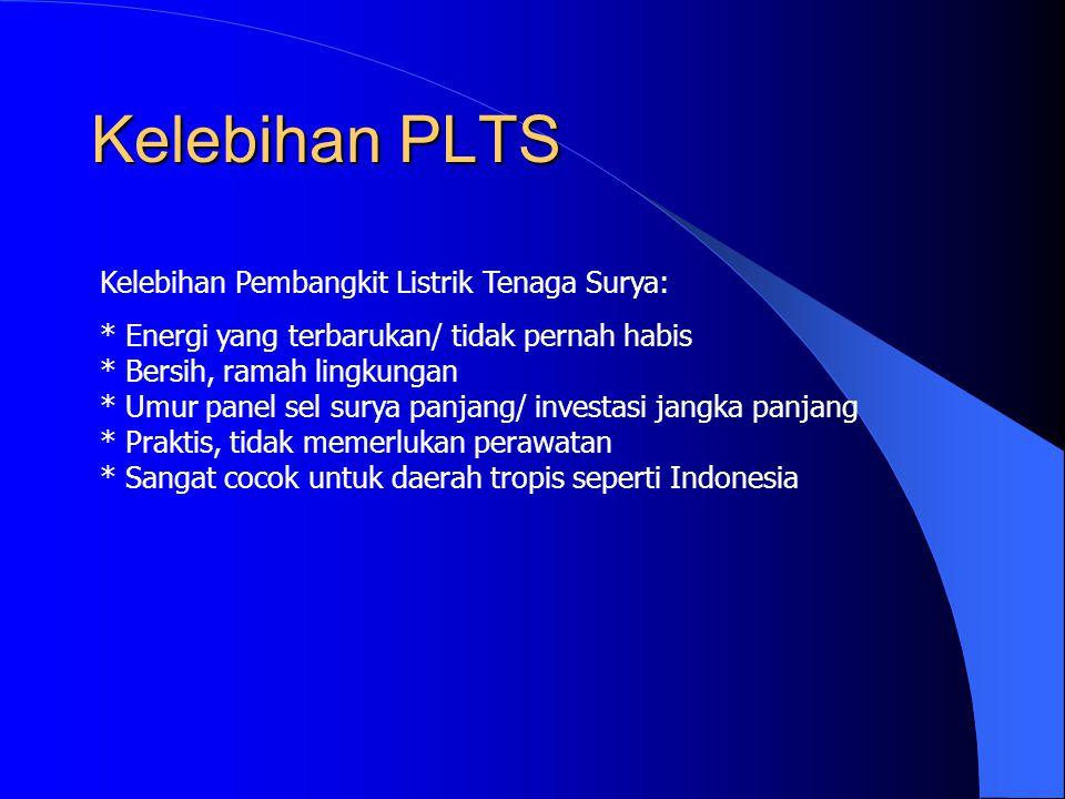 Kelebihan PLTS Kelebihan Pembangkit Listrik Tenaga Surya: