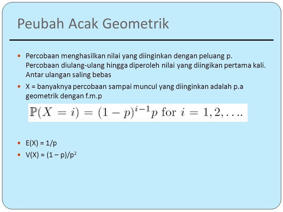 Peubah Acak Geometrik
