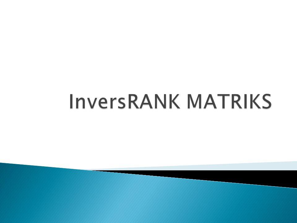 InversRANK MATRIKS