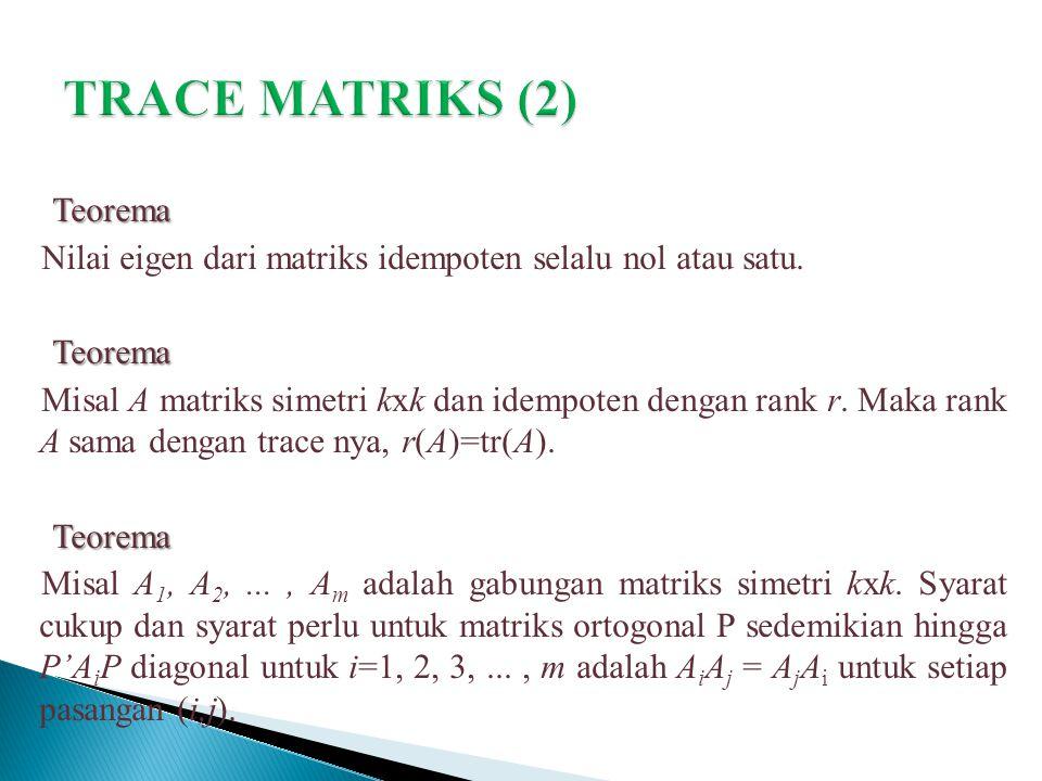 TRACE MATRIKS (2)
