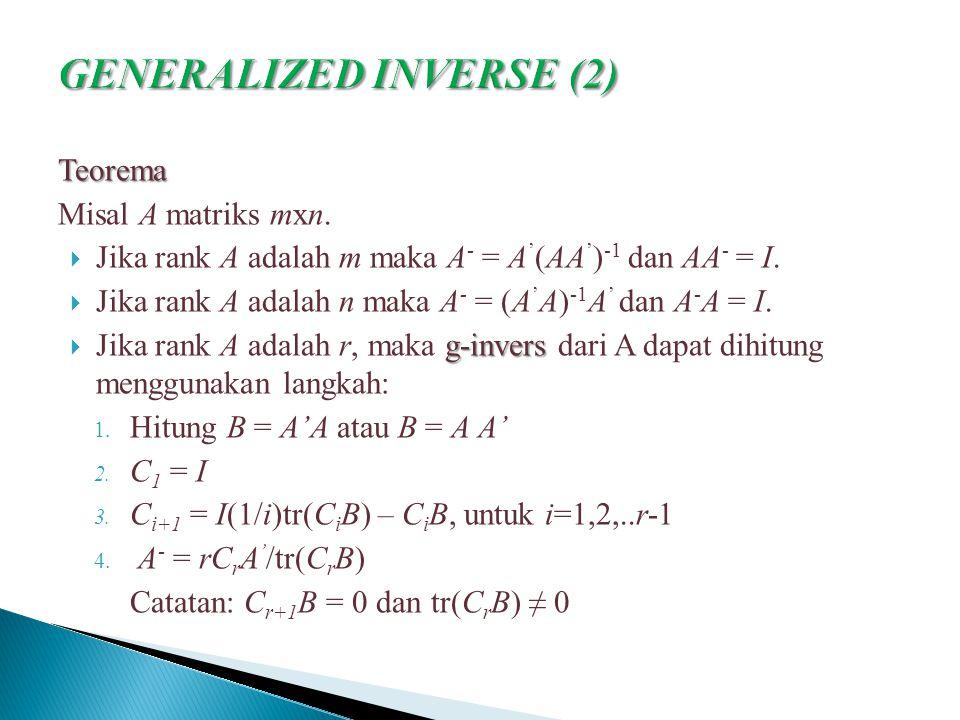 GENERALIZED INVERSE (2)