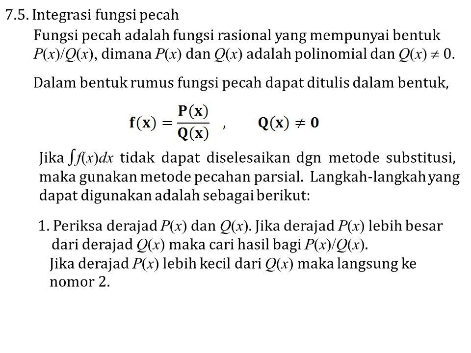 7.5. Integrasi fungsi pecah