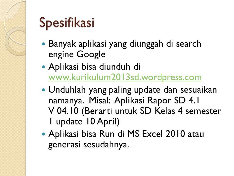 Spesifikasi Banyak aplikasi yang diunggah di search engine Google