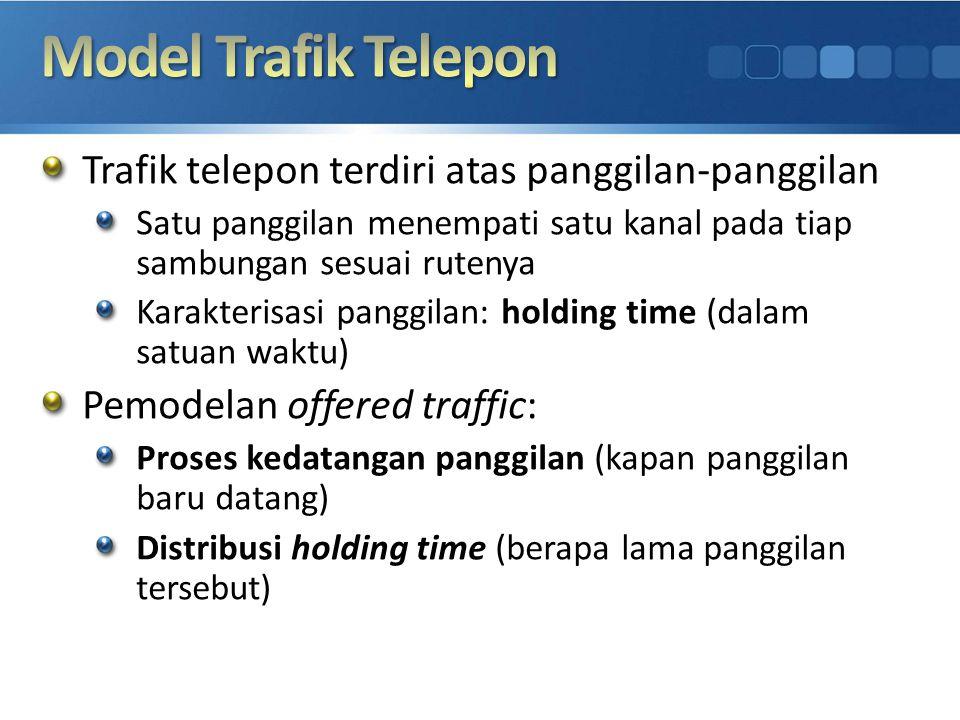 Model Trafik Telepon Trafik telepon terdiri atas panggilan-panggilan