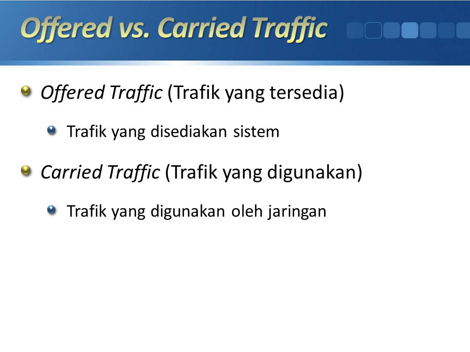 Offered vs. Carried Traffic