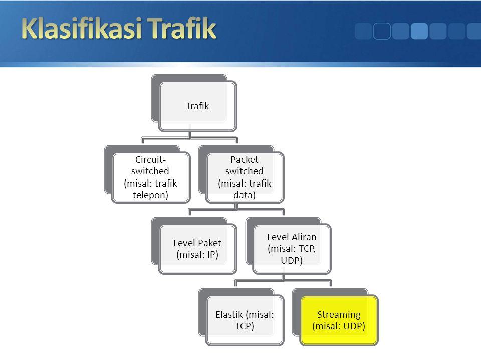 Klasifikasi Trafik Trafik Circuit-switched (misal: trafik telepon)