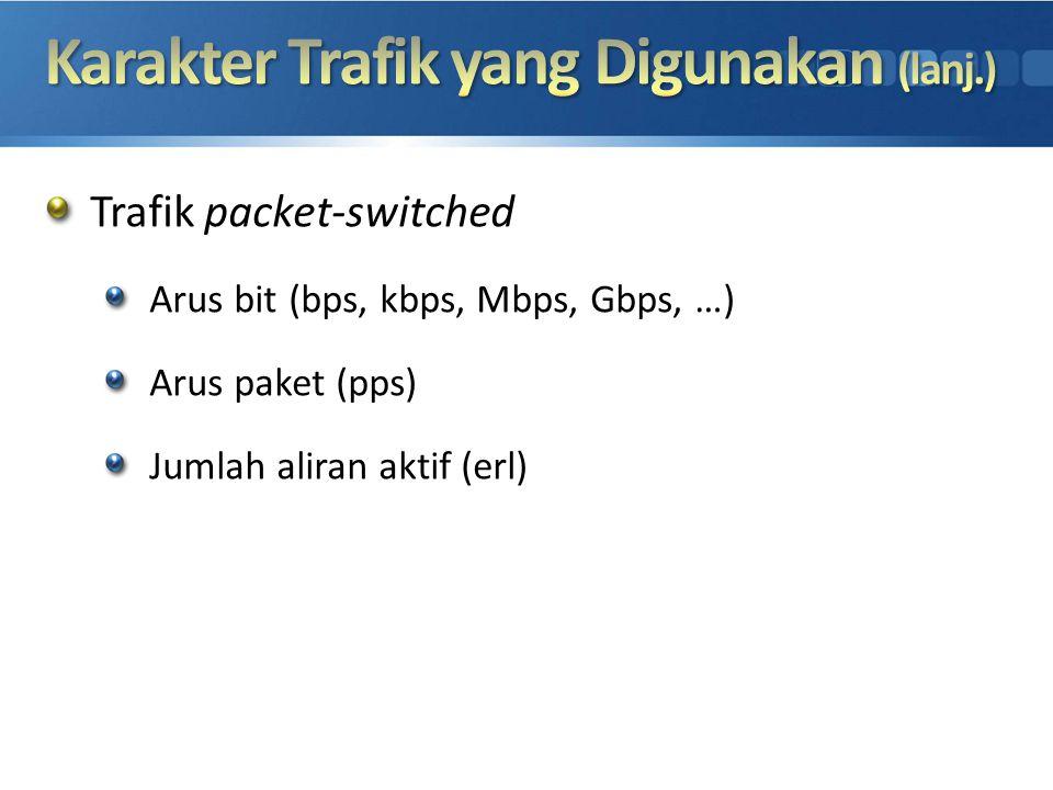 Karakter Trafik yang Digunakan (lanj.)