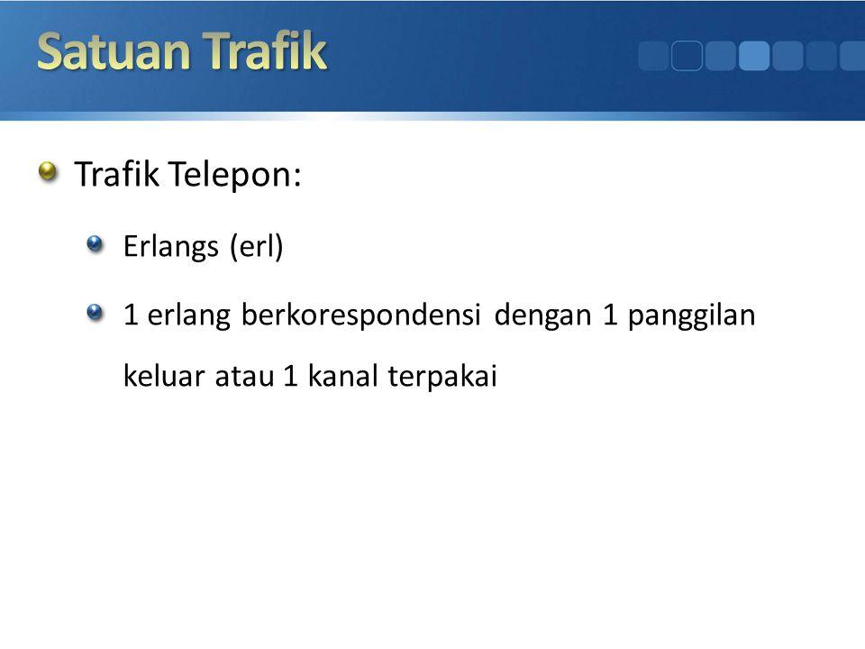 Satuan Trafik Trafik Telepon: Erlangs (erl)