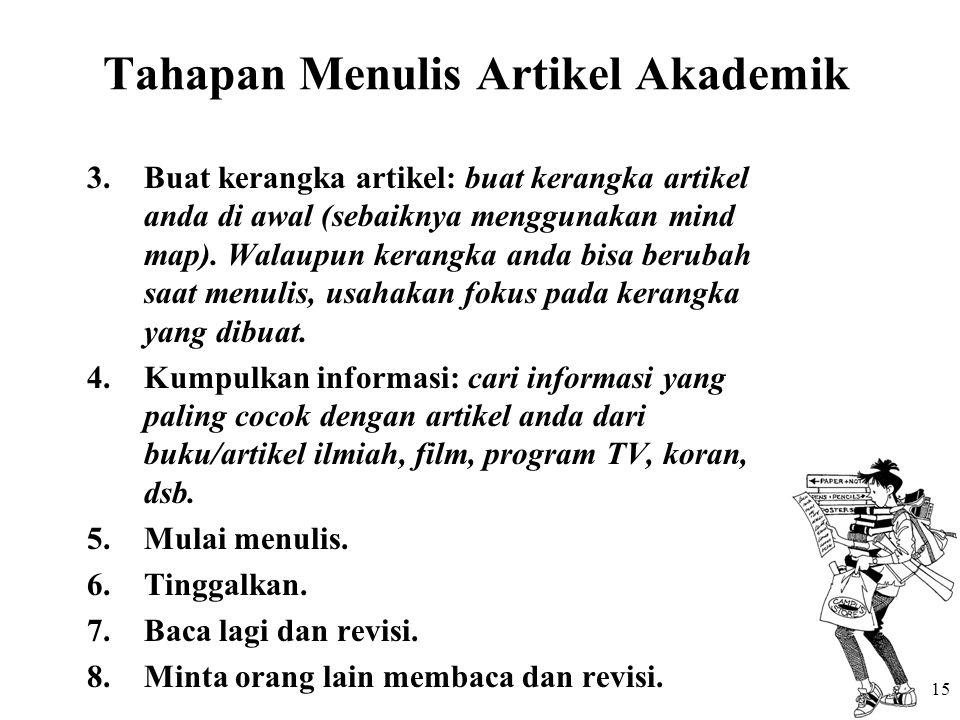 Tahapan Menulis Artikel Akademik