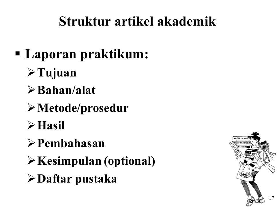 Struktur artikel akademik