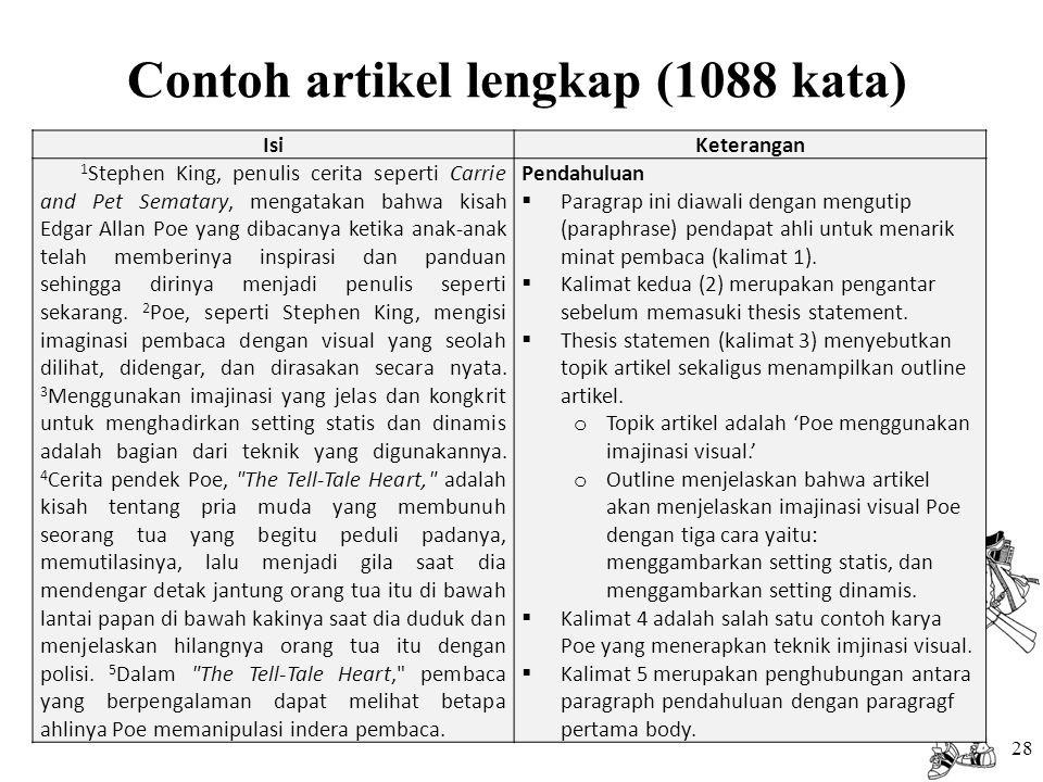 Contoh artikel lengkap (1088 kata)