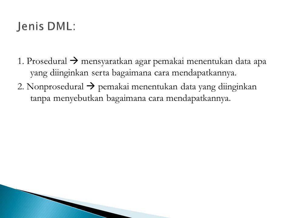 Jenis DML: