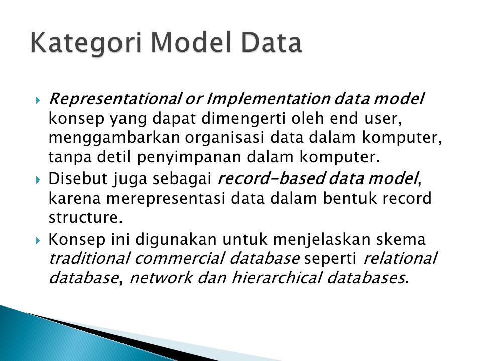 Kategori Model Data