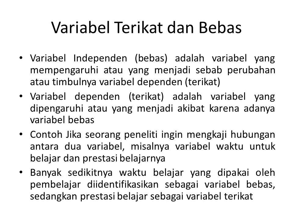 Variabel Terikat dan Bebas