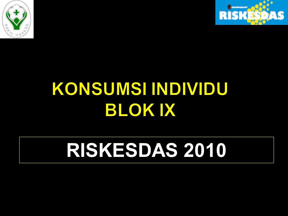 KONSUMSI INDIVIDU BLOK IX