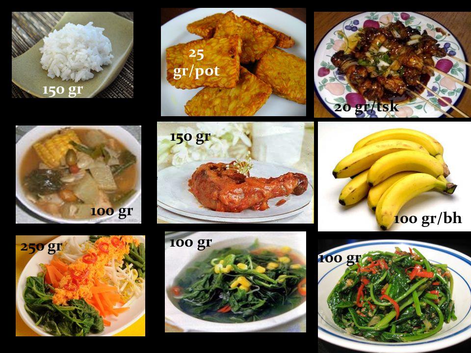 25 gr/pot 150 gr 20 gr/tsk 150 gr 100 gr 100 gr/bh 100 gr 250 gr 100 gr