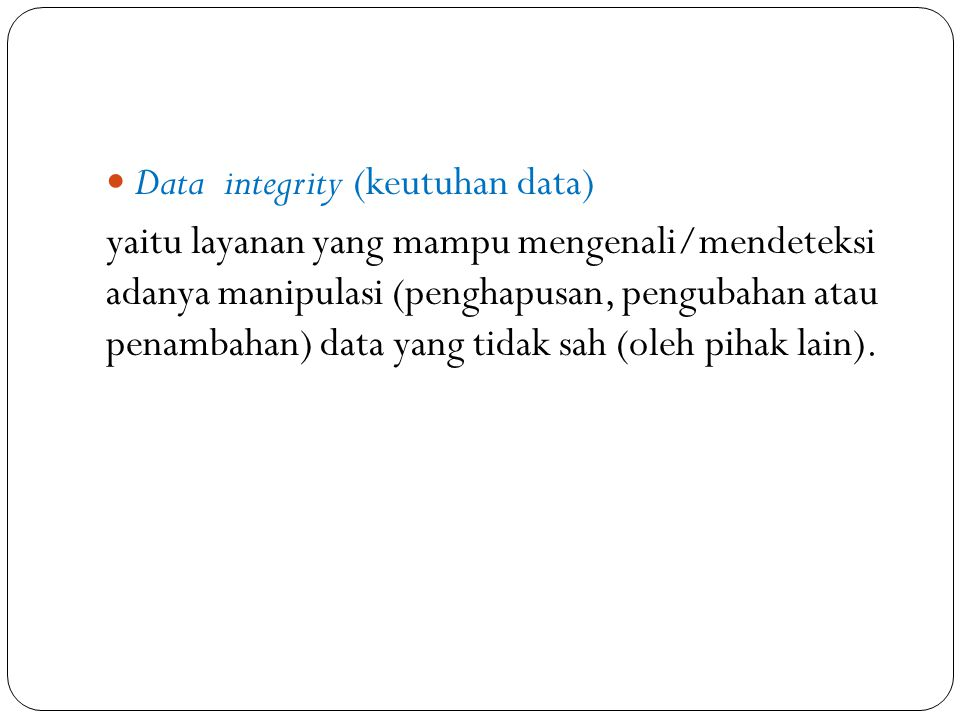 Data integrity (keutuhan data)
