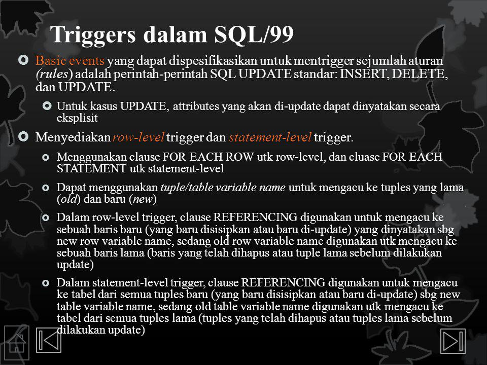 Triggers dalam SQL/99