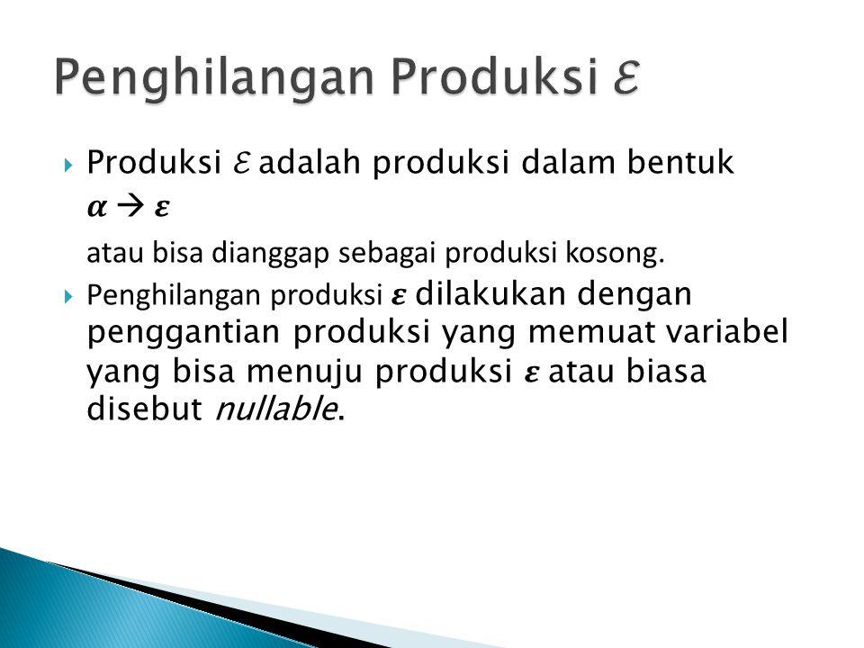 Penghilangan Produksi ℰ