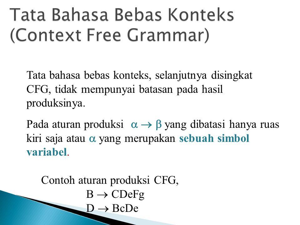 Tata Bahasa Bebas Konteks (Context Free Grammar)