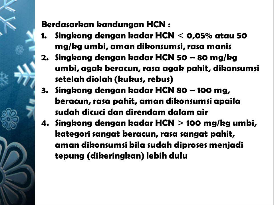Berdasarkan kandungan HCN :