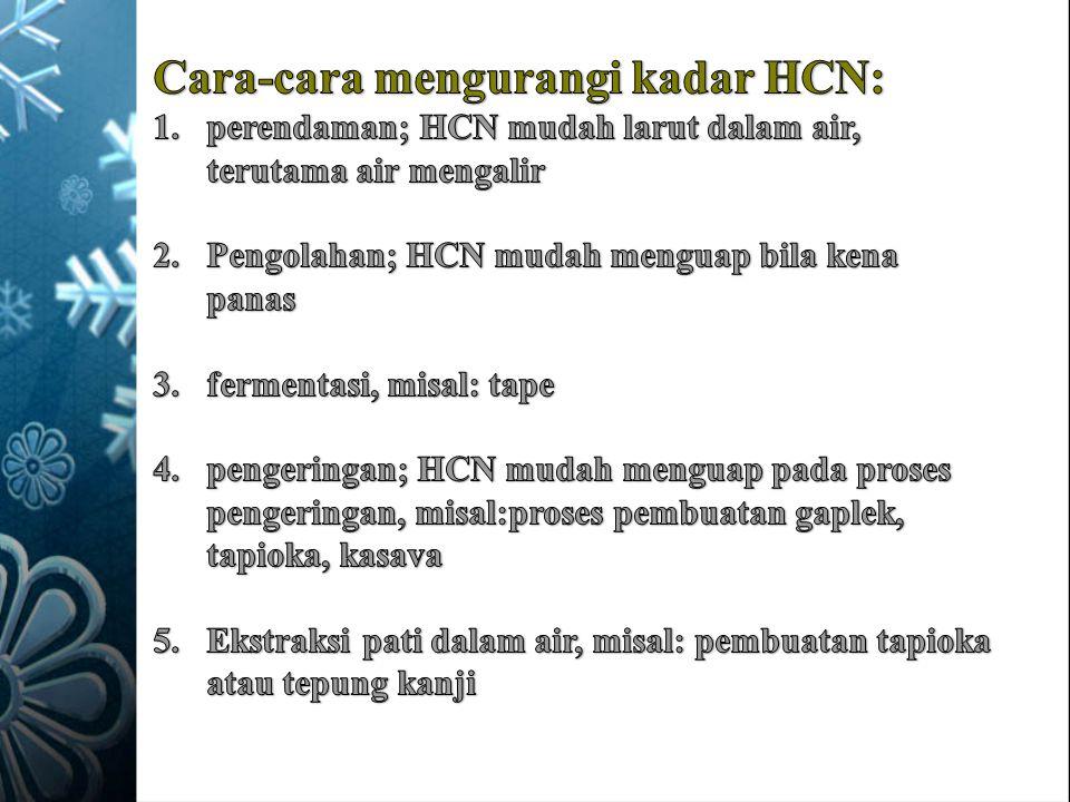 Cara-cara mengurangi kadar HCN: