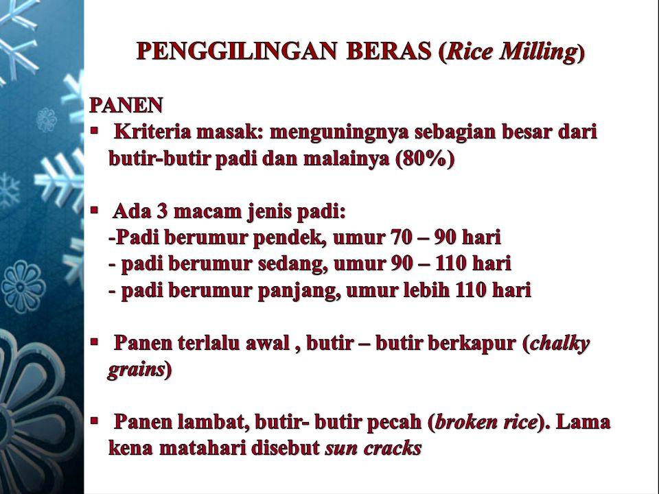 PENGGILINGAN BERAS (Rice Milling)