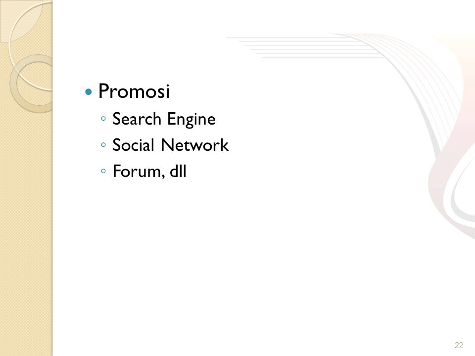 Promosi Search Engine Social Network Forum, dll