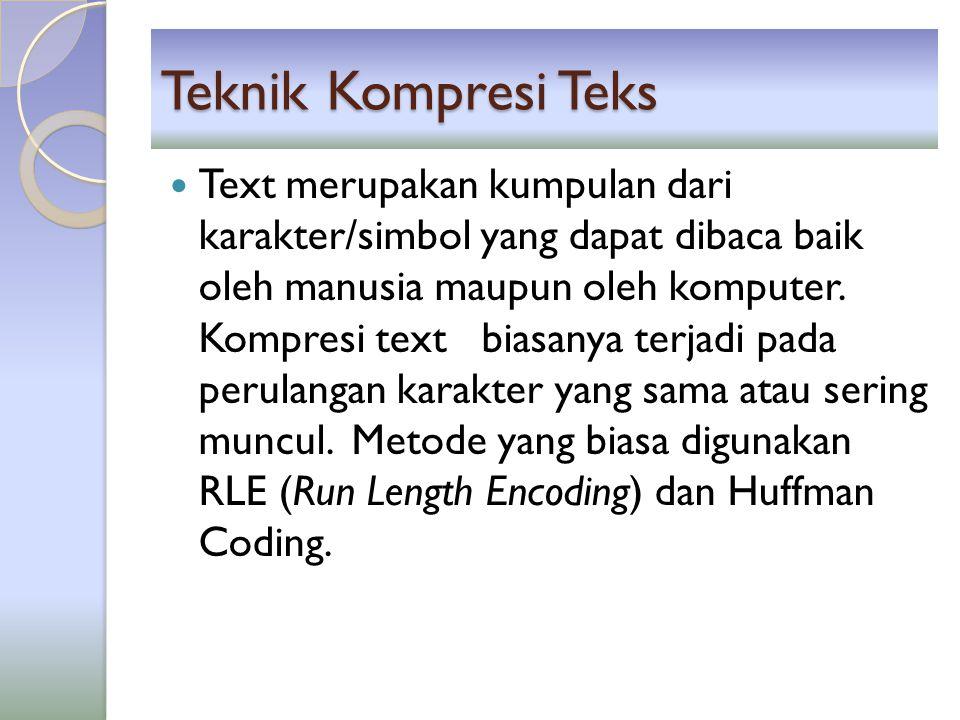 Teknik Kompresi Teks