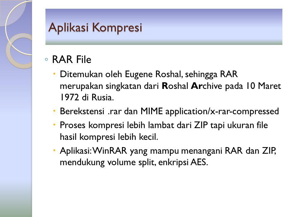 Aplikasi Kompresi RAR File