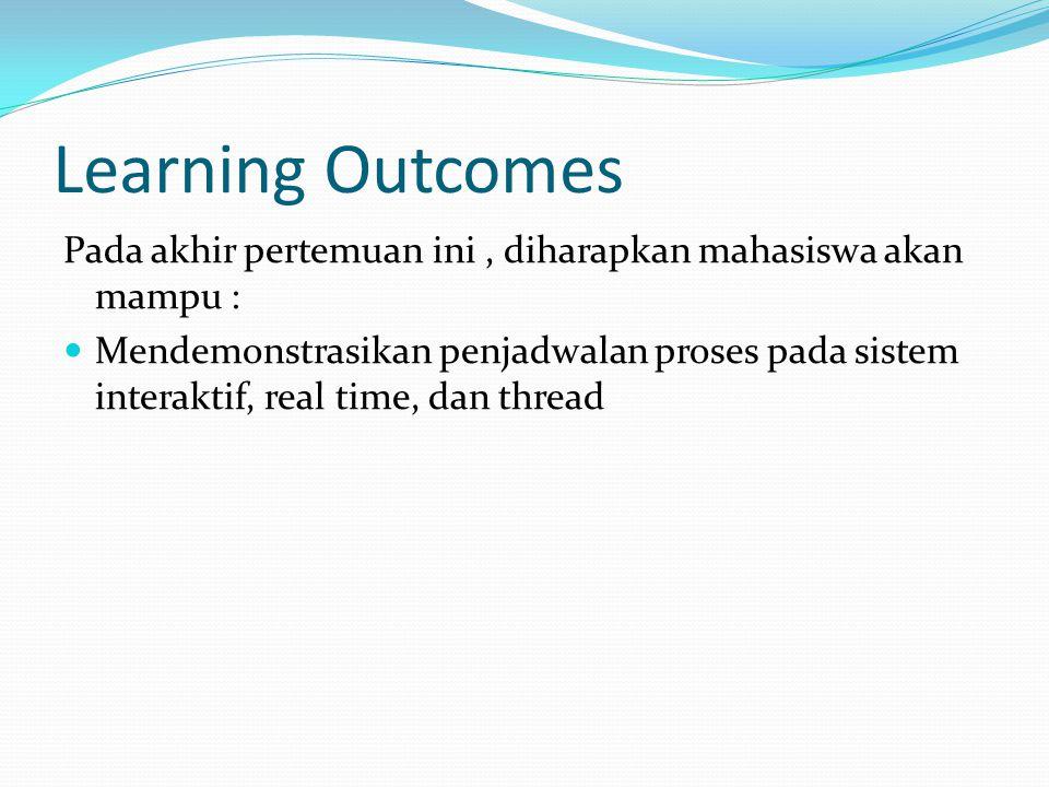 Learning Outcomes Pada akhir pertemuan ini , diharapkan mahasiswa akan mampu :