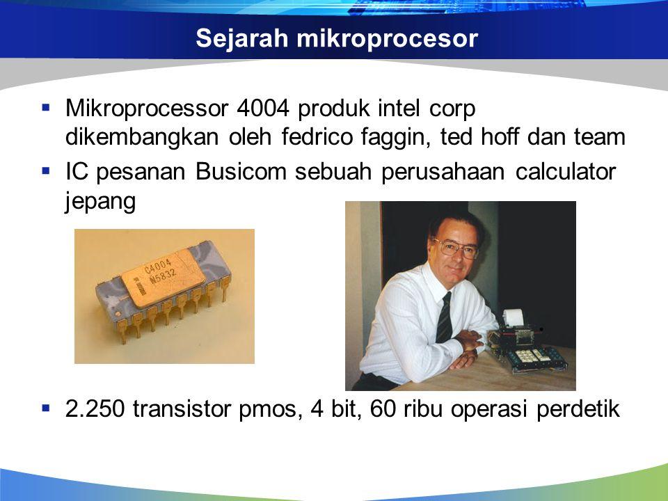 Sejarah mikroprocesor