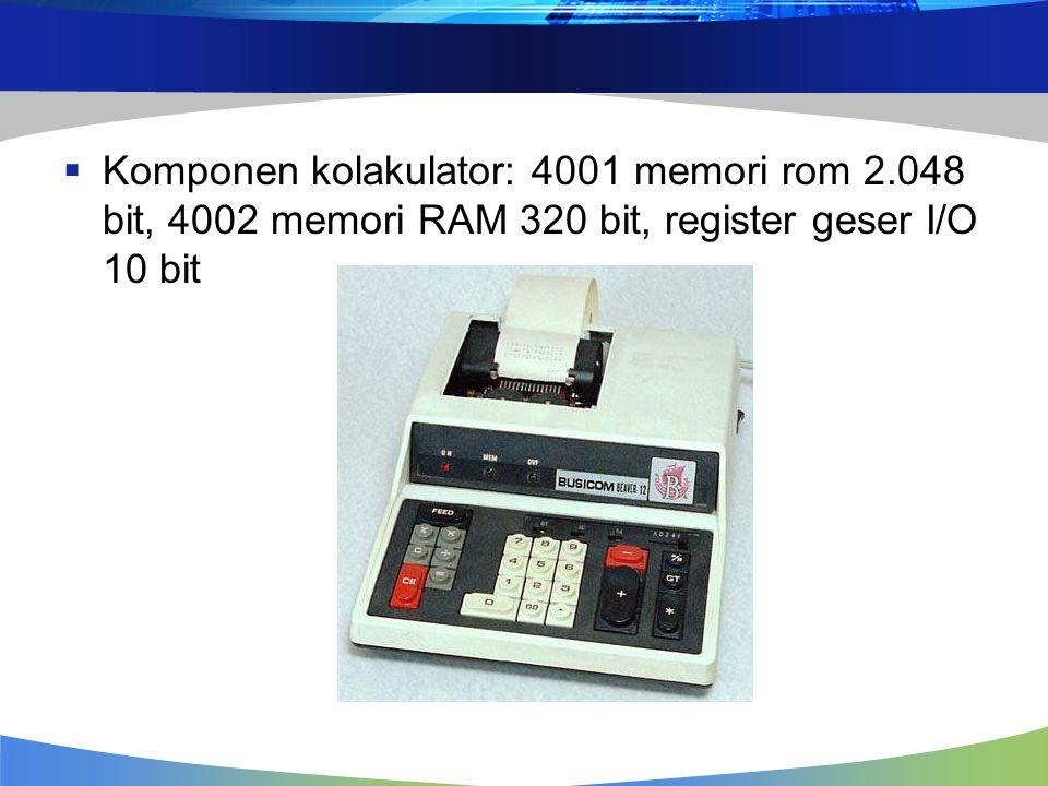 Komponen kolakulator: 4001 memori rom 2